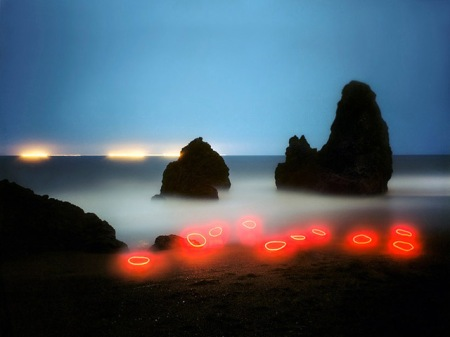landscape light led sculptures art barry underwood nature photography exposure lighting camera artist