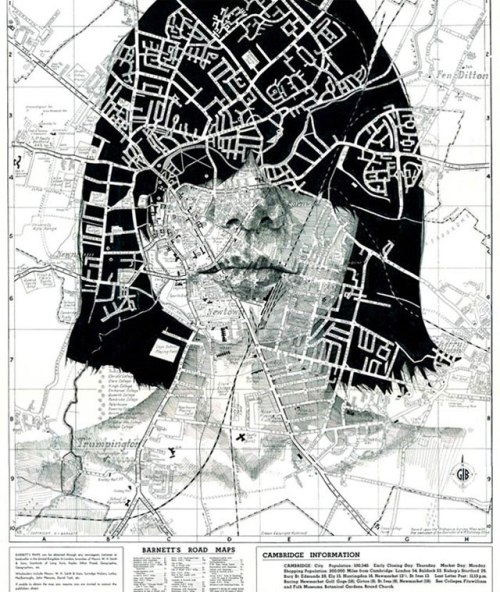 drawings art maps paper art 3d paintings faces artist roads lines texture