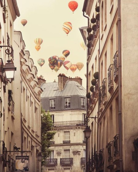 paris hot air balloons city photography romantic fine art photography poster city buildings street vintage poster paris