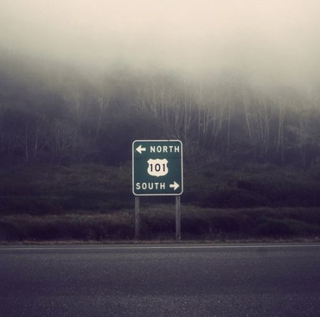 highway route 101 north south usa street road sign landscape photography art