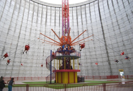 theme park nuclear reactor germany old renovation amusement park dutch investor spinning wheel rollercoast amazing location strangest coolest theme park