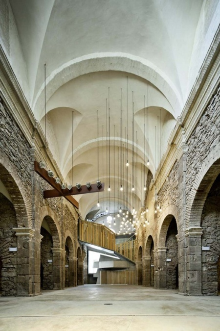 Convent de Sant Francesc remodeled by architect David Closes is a church located in Santpedor, Spain