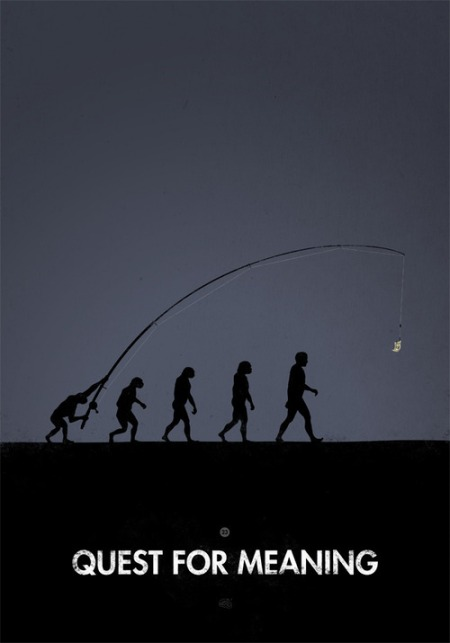 "a set of fun graphic designs interpretations parodying the famous ""March of Progress"" (the drawing synthesizing 4 million years of human evolution) by French print & graphic design studio Maentis"