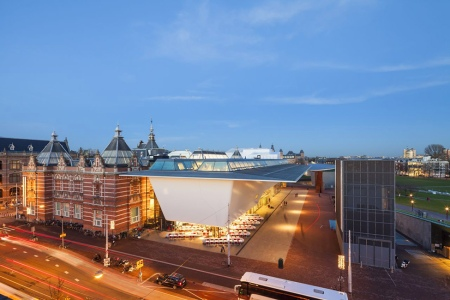 The Stedelijk Museum in Amsterdam, Netherlands designed by Benthem Crouwel Architects