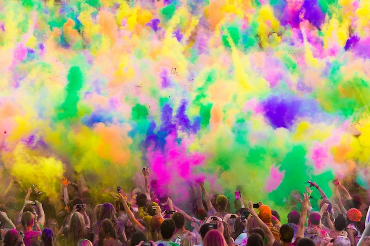 Colorful Powder Fills the Air at Utah's Festival of Color