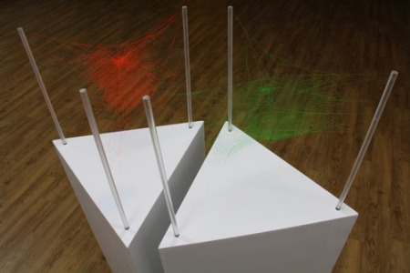 coloured spider webs - Simon, art, Korea, destination, sculpture, installation, colourful, Ai Wei Wei, boundaries, highlight, fluo colours