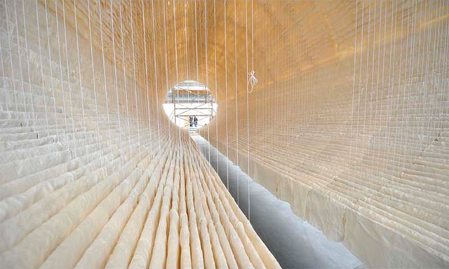 art, sculpture, installation, hanging, rice paper, boat