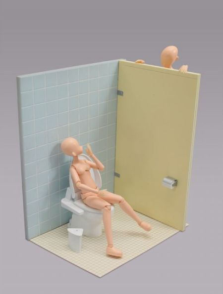 toilet figure miniature model urinals scale model architeture model making design japanese fun cool mini figures sculpture