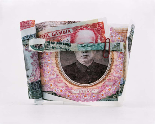 "French photographer Philippe Pétremant creates incredible portraits using folded banknotes from different countries in this series entitled ""Les Sept Mercenaires"""