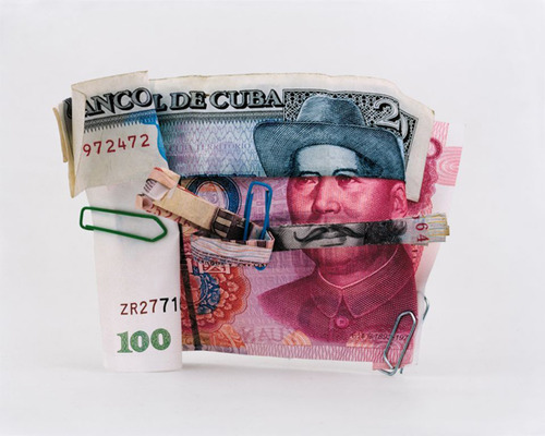 """French photographer Philippe Pétremant creates incredible portraits using folded banknotes from different countries in this series entitled """"Les Sept Mercenaires"""""""