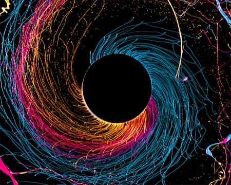 paint art black hole color spinning colour metal rod drill art artwork swiss photgrapher artist centrifugal force rotating great color photography