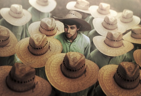 photography award portrait 'The Helpers' - a great example of fine art photography manipulation by young 19 year old aspiring photographer Nichola Scarpinato, based in Richmond VA, USA hats hat