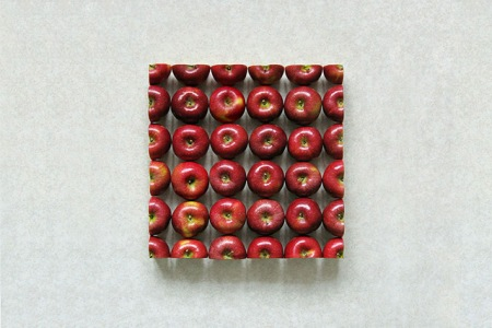fruit food art photography geometry geometric composition sculptures 3D photography artist installation