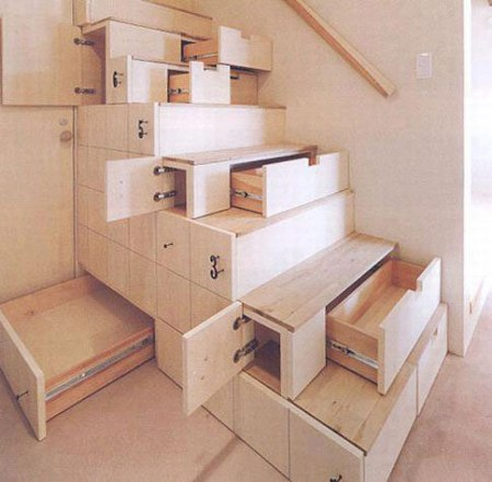 staircase shelves storage hidden under-stair home furniture clever design shelf cupboard space saving interior design