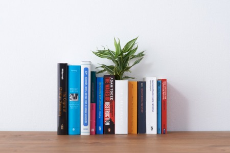 he Book Vase by YOY Design Studio - a house planter camouflaged as a book...the vase can be opened up to reveal the dirt inside and when closed can be inserted amongst the rest of your books to save desk space.