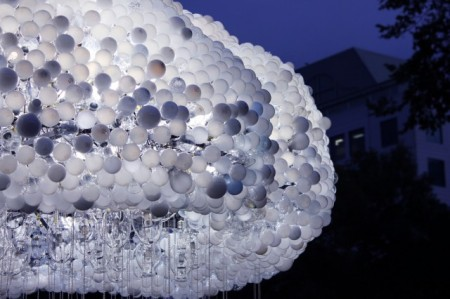 'Cloud' - An anteractive installation made of 6,000 light bulbs by artist Caitlind r.c. Brown