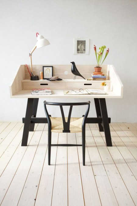 designer desk industrial design wooden craft desk table timber wood care scandinavian dutch color tones beautiful decor house home living interior
