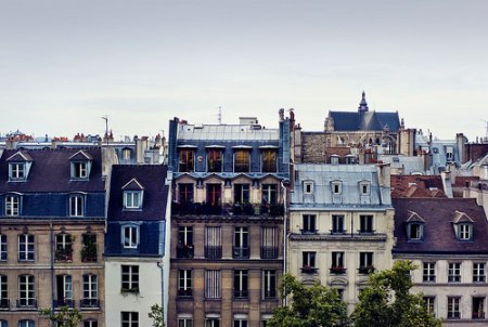 france city building house paris architecure view from centre pompidou