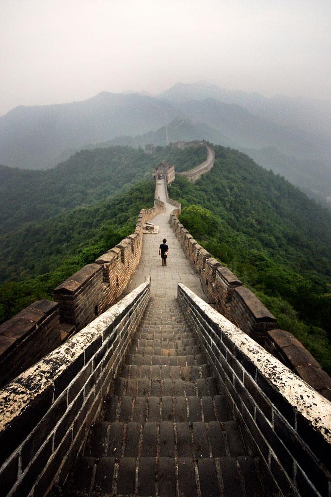 Great-Wall-at-Dawn,-China.