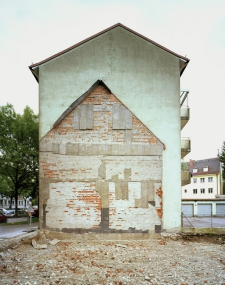 interesting photography series by German photographer Marcus Buck, documenting the traces of architectural remains of demolished buildings engraved onto the sides of neighboring buildings.