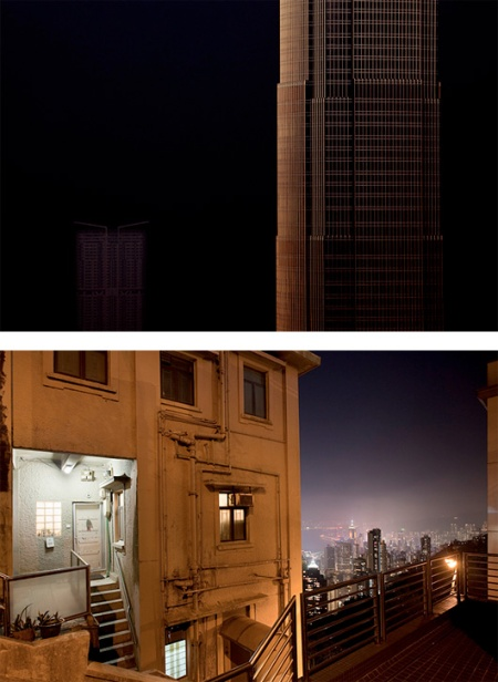 "From the series: 'Sleeper in Metropolis' a set of great cityscapes photographs subtitled ""fragments of urban living…"", capturing the essence of large metropolitan area during the night by photographer Nikolaus Gruenwald"
