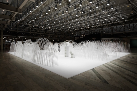 Series of photos from the amazing installation by Nendo at the Stockholm International Furniture Fair.