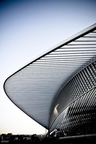 Gare des Guillemins, Liege by architect Santiago Calatrava
