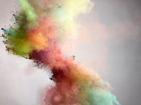From his series 'Powder' - fantastic, vibrant and explosive photographs of colored powder by Amsterdam born still life photographer Marcel Christ