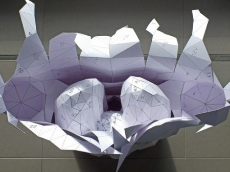 "The Paper Torso Project, by Austrian artist & architect Horst Kiechle. The Australian architect is most known for his ""archisculptures,"" where he takes paper and card to create intricate models and prototypes that are a cross between architecture and sculpture. His templates and assembly instructions are available for free download on his website"