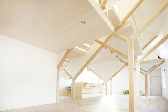 'House N' in Chiba, Japan designed by Hiroyuki Shinozaki Architects and photographed by Fumihiko Ikemoto / Hiroyuki Shinozaki and Sota Matsuura - have created a house that encapsulates a young family's vision for both their present and their future. With its simple and perfect design, the building provides a subtle and comforting atmosphere. Clean not sterile, calm not cold, this home is a breath of fresh air, designed to be a living symbol of a family's life by utilizing its large roof and structure where shape, symmetry and quality materials take centre stage.