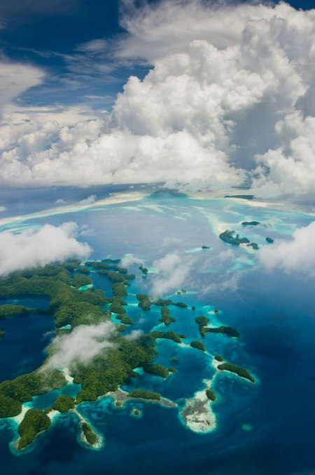Rock Islands of Palau' - The Republic of Palau consists of eight principal islands and more than 250 smaller ones lying roughly 500 miles southeast of the Philippines.