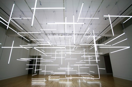 A Geometric Labyrinth of 200 Fluorescent Lights at Frye Art Museum (1)