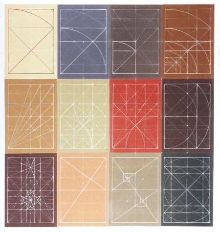 Graphic Layout Drawings by American artist and geometer Mark A Reynolds