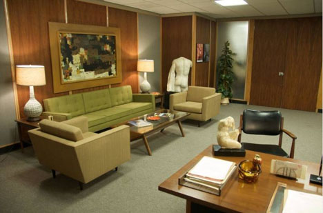 ... Photos Showing The Impeccably Styled Interior In 60s Modern Furniture  Of The U0027Sterling Cooper Draper ...