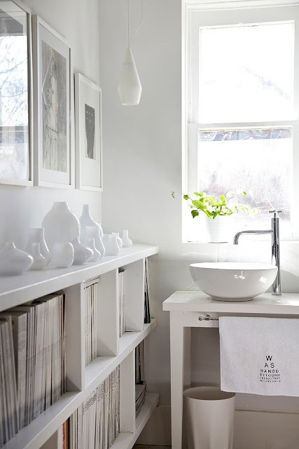 A selection of beautiful white interior spaces ranging from very modern to very rustic and vintage design & architecture