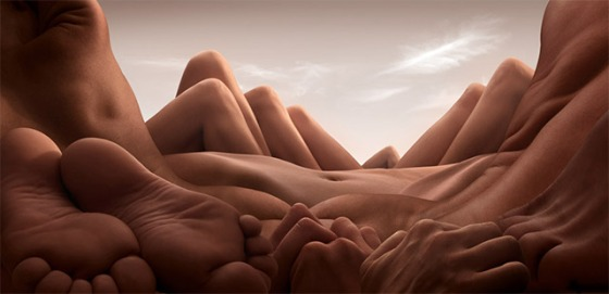 Landscapes Formed From Human Bodies by Carl Warner (1)