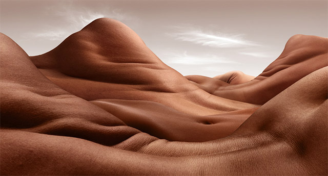 Landscapes Formed From Human Bodies by Carl Warner (3)