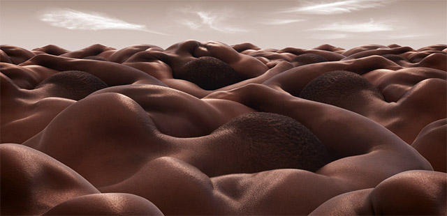 Landscapes Formed From Human Bodies by Carl Warner (5)