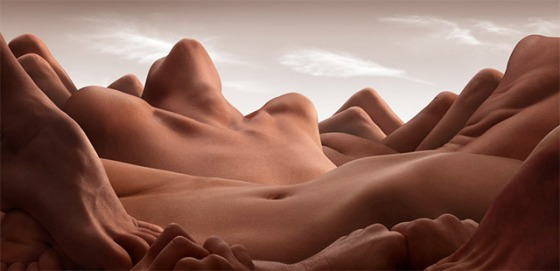 Landscapes Formed From Human Bodies by Carl Warner (6)