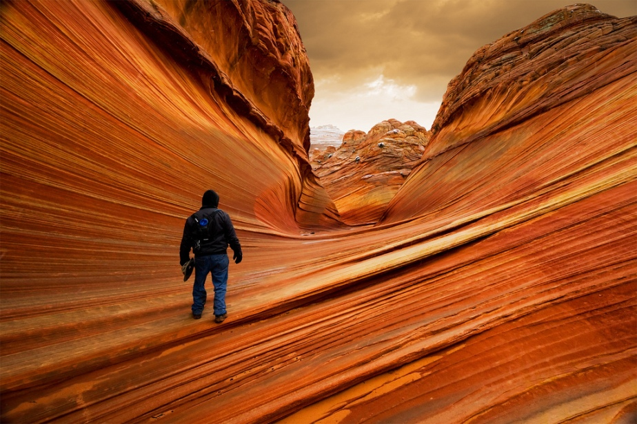 The Bucksin Gulch and Coyote Buttes Canyons on the western edge of the Paria Plateau, along the Colorado River in Arizona and Utah, USA /