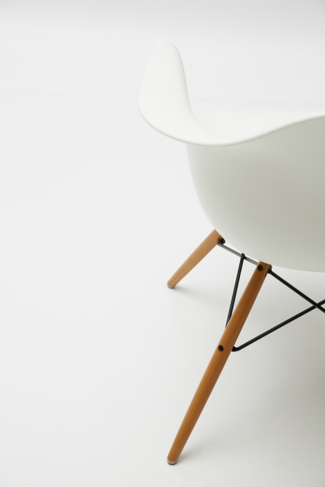 The beautiful and famous Eames DSW Fiberglass Chairs / for more great Art, Architecture, Design and Photography works, come follow us now on Facebook or visit us on Pinterest
