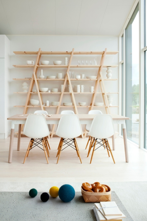 The beautiful Eames DSW Chairs /