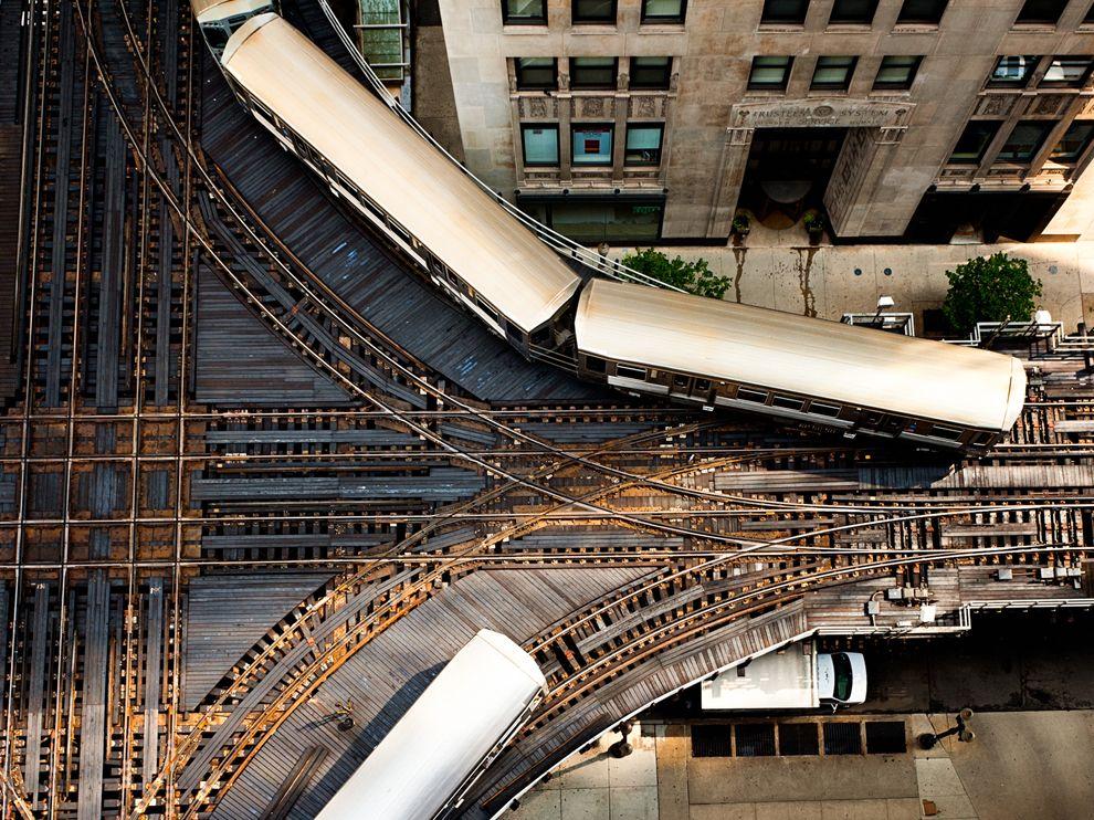 Elevated metro rail tracks