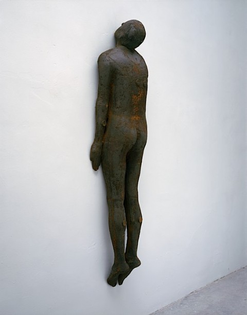 Human Steel Sculptures, by British sculptor Antony Gormley /