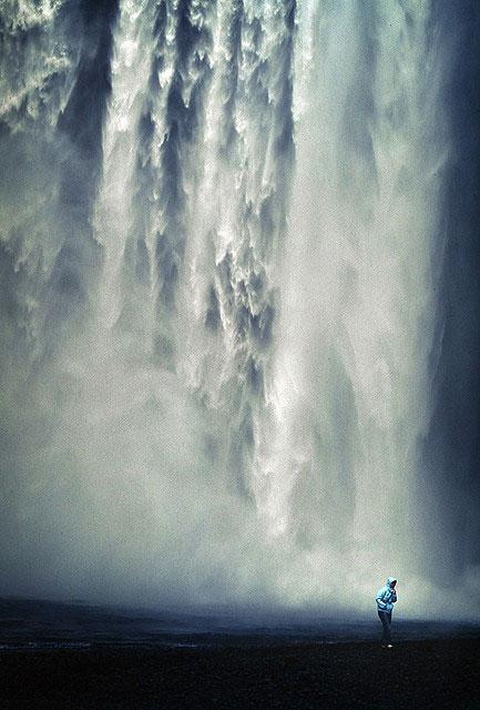 water fall waterfall mist cloud water rain drops wet travel adventure