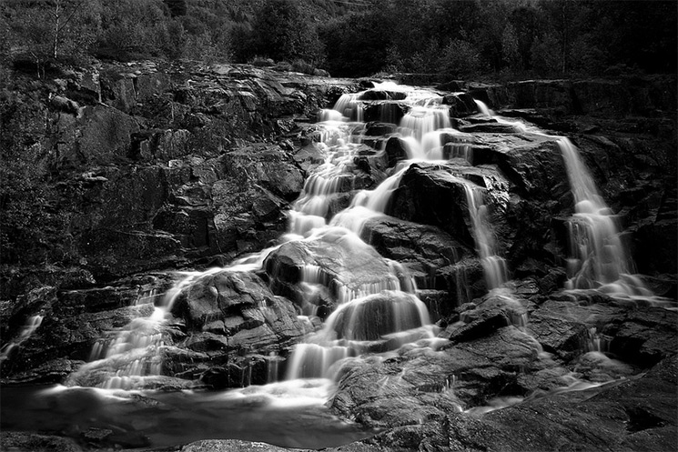 Stark Black and White Photographs of Waterfalls by Massimo Margagnoni (2)