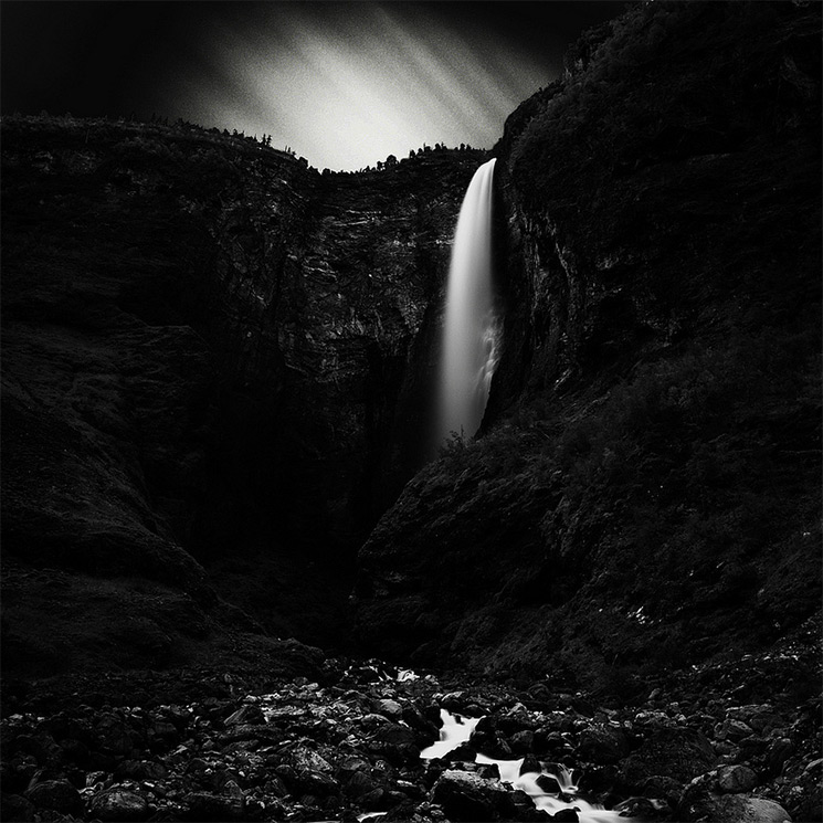 Stark Black and White Photographs of Waterfalls by Massimo Margagnoni (4)