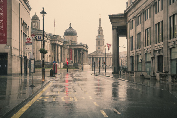 Rather rare views - from his series 'Empty London' by Nick Dolding