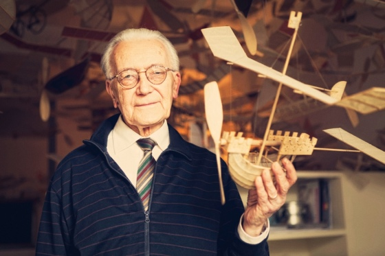 Ships That Sail Through the Clouds Meet Luigi Prina, the 83-Year-Old Builder of Flying Model Ships. Photos by Gianluca Giannone courtesy Blinking City (3)