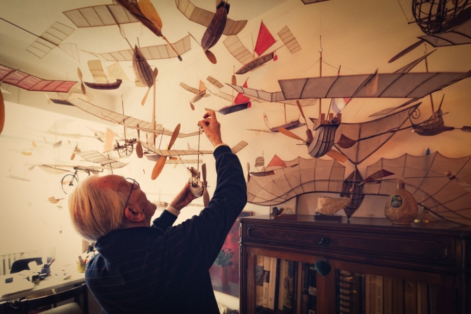 Ships That Sail Through the Clouds Meet Luigi Prina, the 83-Year-Old Builder of Flying Model Ships. Photos by Gianluca Giannone courtesy Blinking City (5)